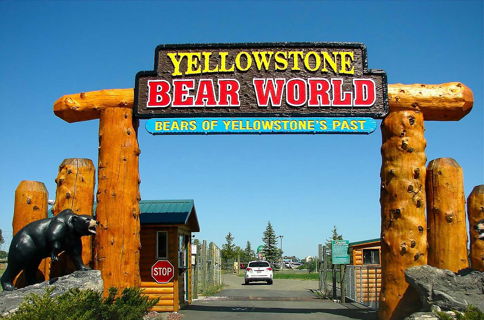 Entrance to Yellowstone Bear World in Rexburg Idaho