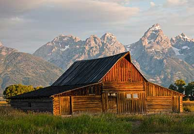 Barn on Mormon Row in Grand Teton National Park